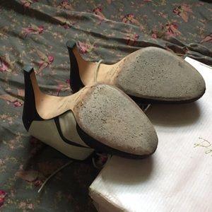 Pour La Victoire Shoes - Pour La Victoire Penelope cream and black heels